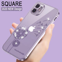 For iPhone 11 Pro Max XS XR 8 Square Glitter Diamond Plating Soft Case Cover