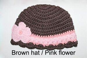 New Handmade Knit Crochet Baby Child Kids Flowers Hat Cap Newborn Photo Prop Hat