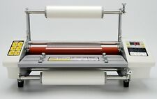 13 335mm A3 Cold Hot Laminator 4 Rollers Roll Laminating Machine Speed Adjust
