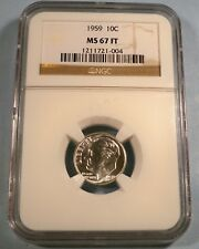 1959 NGC MS67FT ROOSEVELT DIME 10c MS 67 FT FULL TORCH