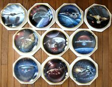 Star Trek The Voyagers Hamilton 10 plate collection Flawless & Complete.
