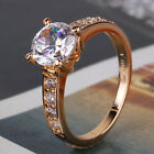 Party 18k gold filled white sapphire lady cheerful attractive ring Sz5/J-Sz9/R