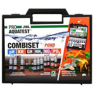 JBL Pro AquaTest CombiSet Pond Test Kit pH KH GH NH4 NO2 PO4 Fish Koi Goldfish