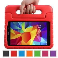 "Kids Safe Carry Heavy Duty Shockproof Rubber Case Cover Stand for Samsung Tablet Galaxy Tab 4 10.1 Inch T530 10.1"" Device Red"