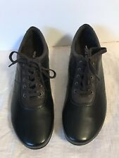 Women's Sz11 David Tate Brown TwoTone Leather lace-up oxfords BicycleToe comfort