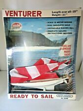 Vintage Rare Venturer Sailboat Showcase Model Yacht Unused In Box Model Power