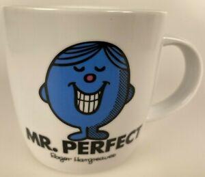 Mr. Perfect White Coffee/Tea Mug Mr. Men 2015 Roger Hargreaves Rare