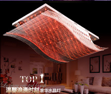 LED Remote Control Ceiling Light Chandelier K9 Crystal Lamp Lighting Fixtures