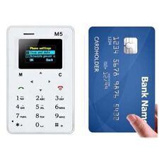 "1.0 ""Ultra Thin AEKU M5 Card Mobile Phone Pocket Mini Card GSM enfants Tél P"