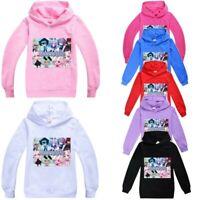 Kids Girls Gacha Life Hooded Hoodie Sweatshirt Autumn Long Sleeve Jumper Tops UK