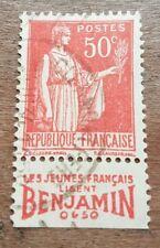 Timbre N°283a avec bande publicitaire Benjamin Oblitéré