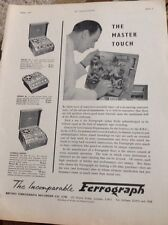 M4-1 Ephemera 1950s Advert The British Ferrograph Recorder Co Ltd London