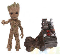 Guardians of the Galaxy Baby Groot Movie Scene Resin Action Figure Statue Model