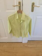 H & M Pale Lime Green Shirt Size EUR 40/Medium - Exc Condition Womens Clothing
