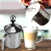 Mini Casa Montalatte Manuale Doppia Maglia Caffè Cappuccino Foamer Acciaio Inx