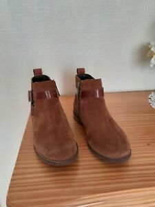 Barbour JANE Ladies Comfortable High Quality Leather Ankle Boots Brown