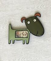 Adorable  artistic Dog large Brooch Pin in enamel on Metal
