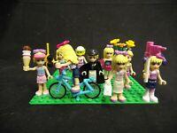 LOT OF 9 GENUINE LEGO FRIENDS MINIFIGURES W/ACCESSORIES DOLLS MINI FIGURES