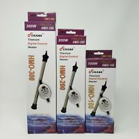 Finnex Digital Controllable HMO-100 200 & 300 Aquarium Heaters 100-300 Watt