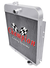 49 50 Plymouth Vehicles Champion 3 Row Aluminum Radiator Cc4950