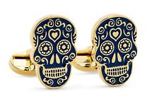 The Dead Blue gold Rare Paul Smith Skull cufflinks Day of