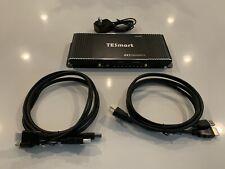 TESmart HDMI KVM Switch 4 Port 4K@60Hz Ultra HD 4x1 HDMI KVM Switch
