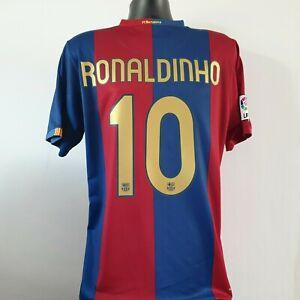 RONALDINHO 10 Barcelona Shirt - Medium - 2006/2007 - Nike Jersey Barca