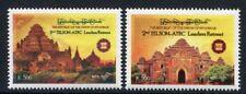 Myanmar Burma 2012 Hist. Architektur Telsom Architecture History 405-406 MNH