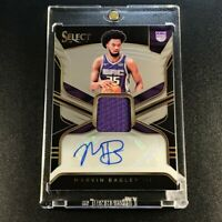 MARVIN BAGLEY 2018 PANINI SELECT #RJA-MB3 CHROME AUTO JERSEY ROOKIE RC NBA