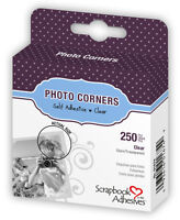 """3L Scrapbook Adhesives Photo Mounting Corners Clear 3/8"""" or 10mm 250/box"""