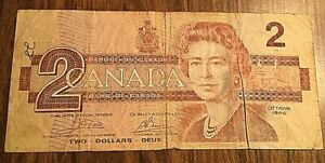 1986 CANADA 2 DOLLARS BANK NOTE 2$
