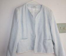 Coldwater Creek Jacket Womens size XL Light Blue Lined Coat Career Dress  -HGG