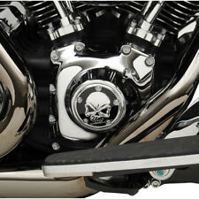 Black & Chrome Skull Points Cover For Harley-Davidson Twin Cam