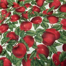 1 yd Apple Fall Design Fabric Cotton Karen Jarrar for Marcus Brothers