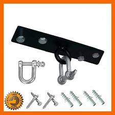 PUNCH BAG STEEL CEILING HOOK WITH SWIVEL WALL BRACKET BOXING UFC GYM 4 SCREWS
