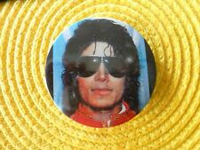 "Vintage 1980 MICHAEL JACKSON  Badge Pin Button 2"" Sunglasses NEW"
