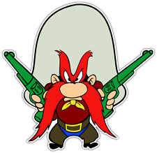 "Yosemite Sam Kids Cartoon Car Bumper Window Locker Sticker Decal 4.1""X5"""