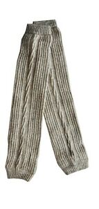 "Ladies Girls Natural Wool Mongolian Winter Ski Leg Warmer Slim max Dia 10""-14"""