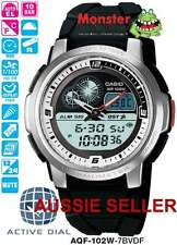 CASIO WATCH ACTIVE DIAL WORLD AQF102W AQF-102W-7BV AQF102 12 MTH WRTY