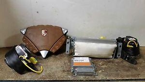 2004 04 Porsche Cayenne Air Bag Set Wheel Dash Belts Module OEM Brown