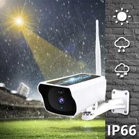 Outdoor Wireless Solar Camera WiFi 1080P Security IP67 Waterproof Night Vision