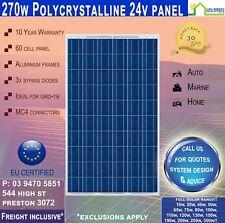 270W Watt 24V Volt Poly Solar Panel 1640 x 992 x 35 ~ 12 Year Wty 25 Yr Pwr Wty