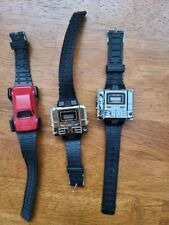 Lot Vintage Takara Kronoform & Nelsonic Transformer Robot Watches GOLD & SILVER