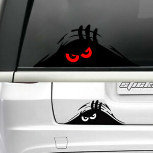 Red Eyes Monster Peeper Scary Funny Car Door Bumper Window Vinyl Decal Sticker