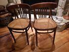 MID CENTURY MODERN DANISH Vintage Thonet Bentwood Cafe Chairs Wood Cane Radomsko