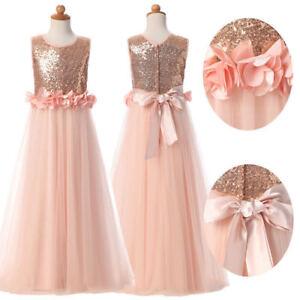 Blush Wedding Flower Girl Dress Birthday Party Princess Dress Glitz Ball Gown