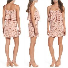 Nordstrom Mary & Mabel Women's XS Pink Floral Print Sleeveless Popover Dress NWT