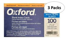 Oxford 30 3 X 5 Blank Index Cards White 100pack 3 Packs