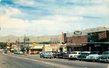 Autos Gas Pumps Rexall Royal Route 66 Victorville California 1955 Postcard 7048