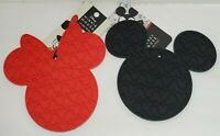 Mickey & Minnie Mouse Icon Silicone Trivet Red Black Disney kitchen hot pad mat